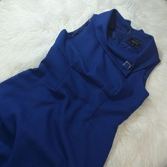 4d83fa13ee9 60s royal blue vintage collared cocktail dress. M 5a3284f6713fde9d0c0219be