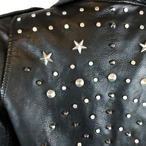 Blank NYC Jackets & Coats - Blank NYC Vegan Leather Moto Star Studded Jacket