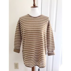 Anthropologie striped button side sweater