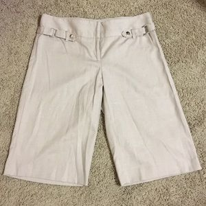 NWT Cache Khaki Shorts with Pin Stripe Shimmer