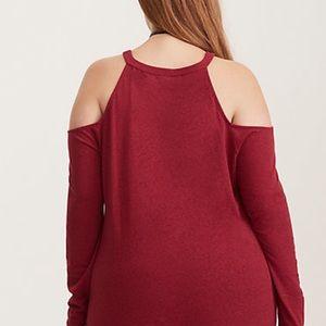 Torrid Knit Cold Shoulder Top