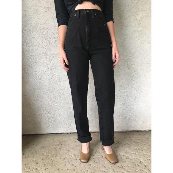 34ba7cf0cccc  vintage  ultra high waist black Wrangler jeans. M 5a1fcc90c6c79533da0244e4