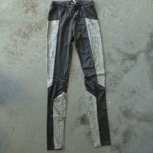 VO black and silver sparkle leggings