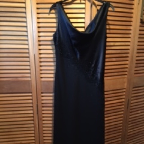 Jones New York Evening Dresses Black Embezzled Gown Poshmark