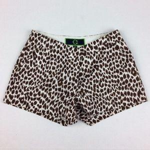 C Wonder animal leopard print shorts