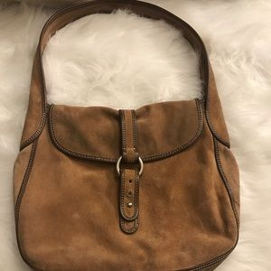 J. CREW AUTHENTIC TAN SUEDE SHOULDER BAG