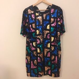 Sequined Vintage Style Dress