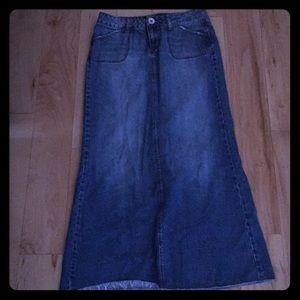 Hint Maurices Long Denim Skirt