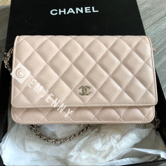 9fc22315d080 CHANEL Handbags - Rare Auth. light pink Chanel WOC caviar, silver hw