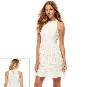 NWT Lauren Conrad Garden Blooms Fit & Flare Dress