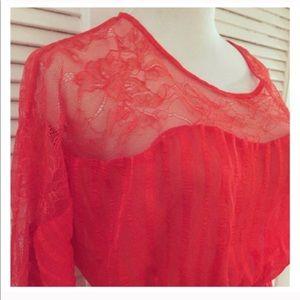 Vintage Lightweight Red Dress, Belt me!