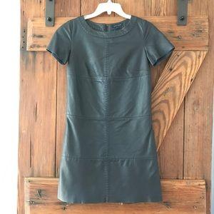 TOMMY HILFIGER Runway Leather Shift Dress
