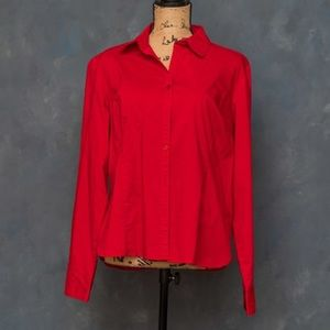 Red work attire button down