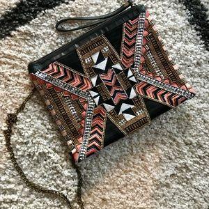 Handbags - Aztec sequin beaded bag