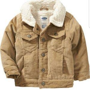 Old Navy Beige Kids Wool Jacket/Coat