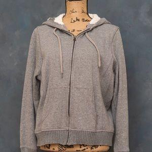 Lined sweat jacket