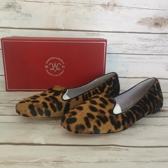4ec4dfd2eb0 Womens Johnston   Murphy Leopard Shoes Size 8