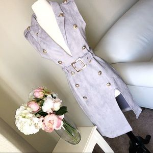 Dresses & Skirts - Gray Deep Gold Buttoned Dress