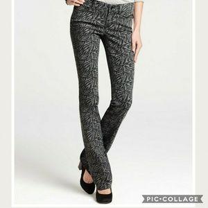 🔆Ann Taylor Modern Fit Zebra Print Jeans