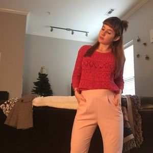 Cute pink trousers.