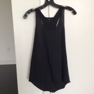 Rag & Bone Racerback Tank with Mesh Detail