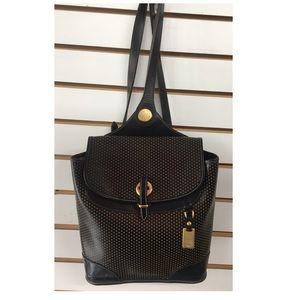 Dooney & Bourke vintage black and gold backpack