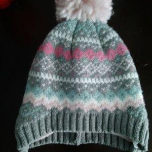 Infant pom pom winter hat