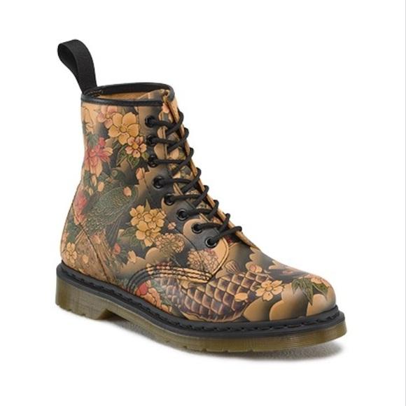 Doc Marten Tan Tattoo Sleeve Boots
