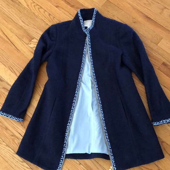 Sail to Sable Jackets & Blazers - Brand New Sail to Sable Navy Coat