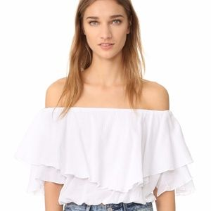MLM Label Tops - NWT MLM Label white 'Maison' crop top