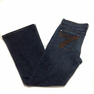 7 FAM  Dojo Original Trouser Jeans SZ 30