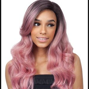 Light Pink/Gold Lace Front Synthetic Wig
