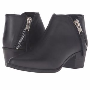 New Steve Madden Black Leather Doris Ankle Boots