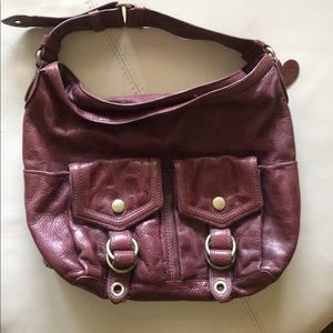 Marc by Marc Jacobs RARE Burgundy leather hobo bag
