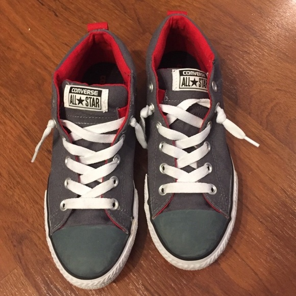 38818c4947fa Converse Other - Boys Converse All Star High Top No Tie Laces