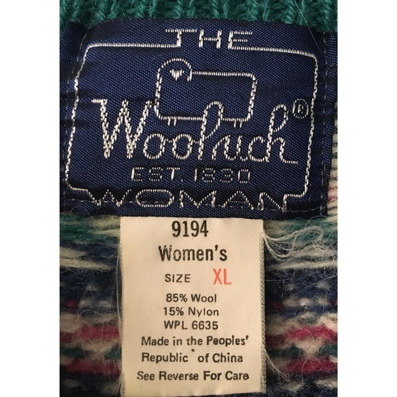 Woolrich - Vintage 80s Woolrich Fair Isle Sweater from Josephine's ...