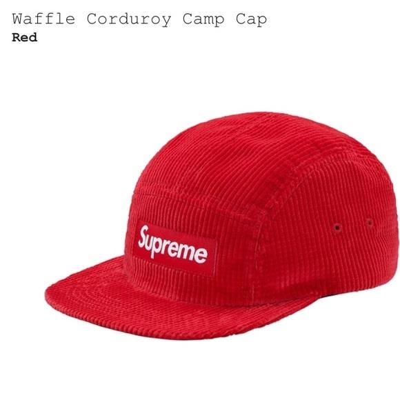 Supreme Waffle Corduroy Camp Hat bd88e3573
