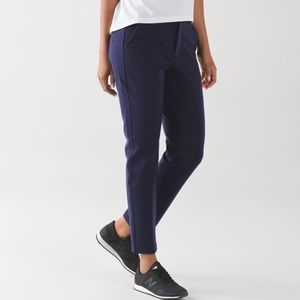 • Lululemon • City Trek Trouser Ponte Deep Indigo