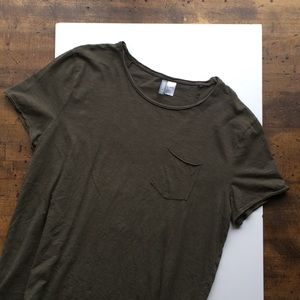 Divided Long-line T-shirt (grey)