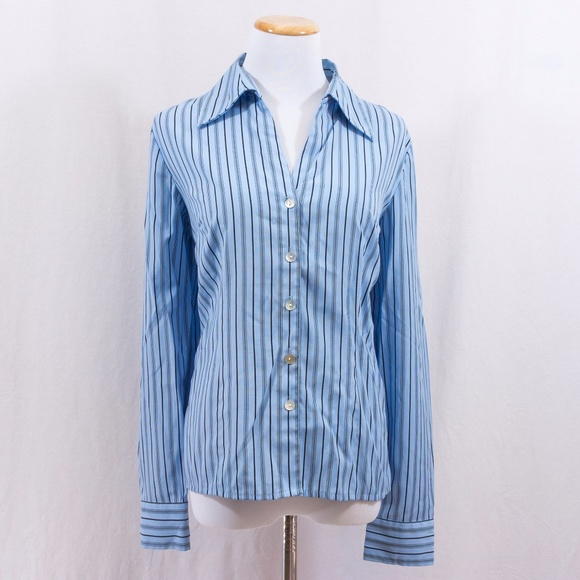 ba2e73e9 Dress Barn Tops   Striped Button Down Shirt From Dressbarn   Poshmark