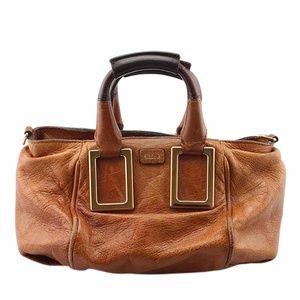 Chloe Ethel Brown Leather 2-Way Satchel (138687)