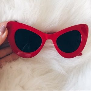 Vintage Red Sunglasses