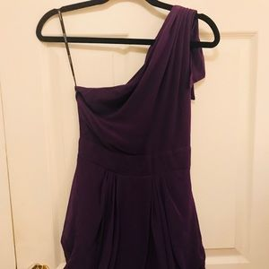 ASOS one shoulder Purple Dress Size S