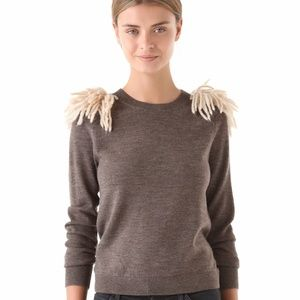 Kelly Wearstler brown Stinger shoulder sweater