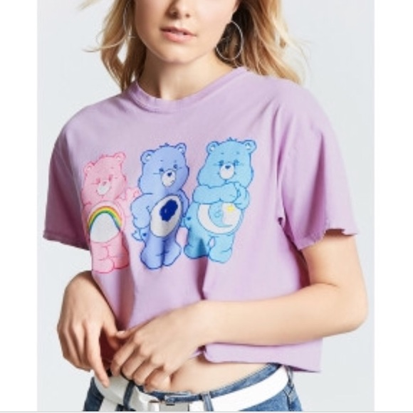 54d522fc98842 Forever 21 Tops - NWOT Care Bears F21 Vintage Look Cropped Tee