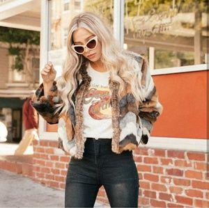 Jackets & Blazers - Zappa Faux Fur Jacket