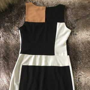 C Luce dress color block beige