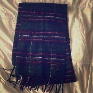 Coach plaid wool & cashmere scarf