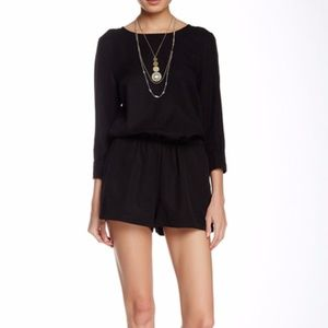 Pim & Larkin Black Long Sleeve Romper