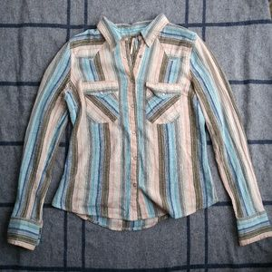 | FREE PEOPLE | Western Style Striped Blouse